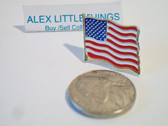 Traditional American Flag Pin USA Unisex Enamel Patriotic