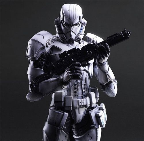66.99$  Watch now - http://alihtg.worldwells.pw/go.php?t=32586212456 - Star War Imperial Stormtrooper Black Knight Darth Vader Play Arts  26cm PVC Action Figure Doll Toys Kids Gift 66.99$