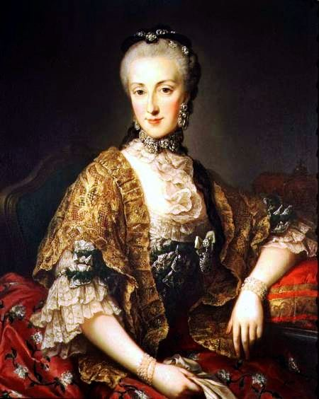 Maria Anna of Austria, 1763. Daughter of Empress Maria Theresa and later Abbess of the Imperial and Royal Convent for Noble Ladies in Prague.