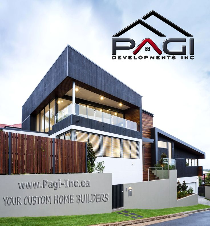 Modern #Home Exterior! www.PaGi-Inc.ca  We work directly with the top #custom cabinet makers & interior designers. #PaGiInc #PaGiHome