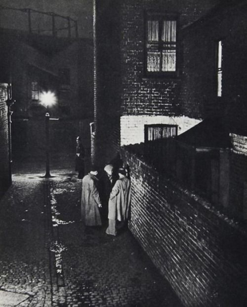 """Alley off East India Dock Road"" by Bill Brandt from his book ""A Night in London"" (1938)"