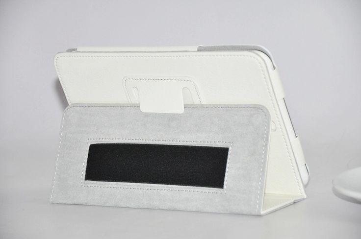 Личи Шаблон PU Кожаный Чехол Для Huawei MediaPad S7 601 3G Версия Планшета с Stylus Держатель Фолио Книга Дело