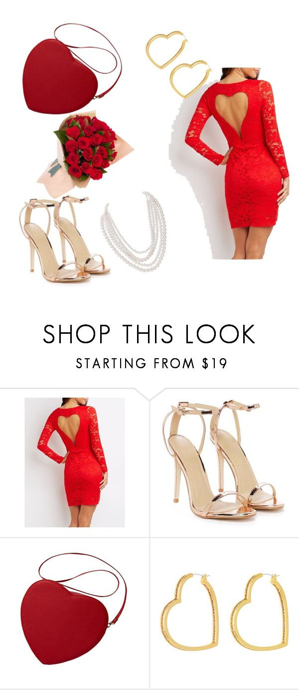 """""""Valentine"""" by zuzia-apanasewicz on Polyvore featuring Charlotte Russe, Nasty Gal, Henri Bendel and Humble Chic"""