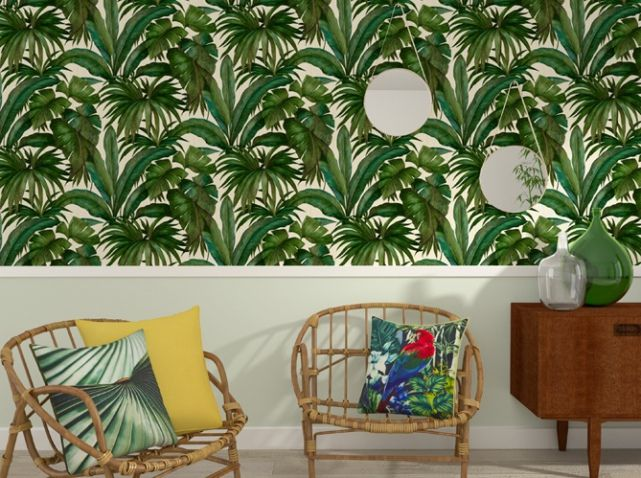 papierpeint feuillage 4murs versace giungla papiers peints wallpaper pinterest tropical. Black Bedroom Furniture Sets. Home Design Ideas