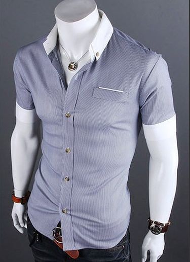 Our casual short sleeve shirt was aimed towards young, modern, and classy people. unique-outfit.com