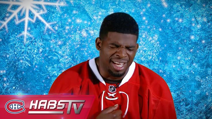 """Let it Go"" performed by the Montreal Canadiens - I literally cried laughing so hard!"