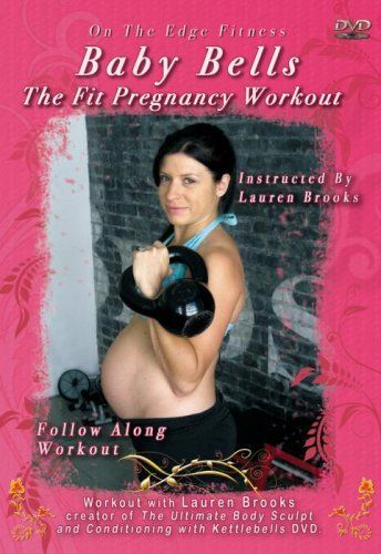 You can follow strength training exercises suitable throughout pregnancy with the Baby Bells Fit Pregnancy Kettlebell Workout DVD by Lauren Brooks.