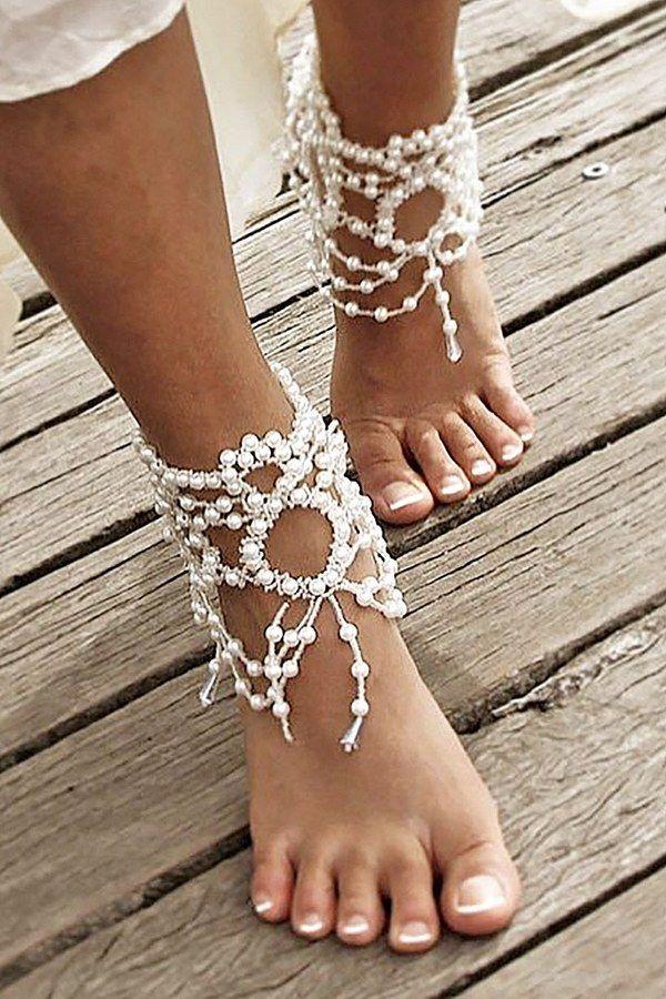 8b56624e52d3 40 Beach Wedding Shoes   Barefoot Sandals