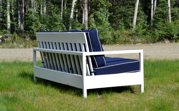 Ana White Build A Simple White Outdoor Sofa Free And