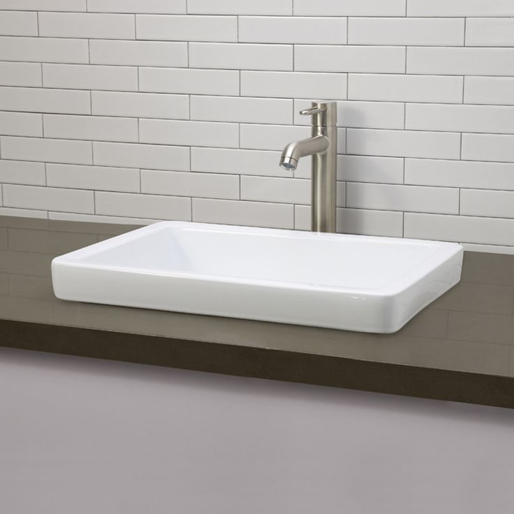 Classically Redefined SemiRecessed Rectangular Vessel Sink from Decolav - 1453-CWH from Lowe's Canada