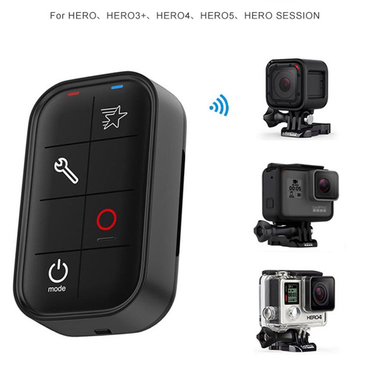 Universal Wireless for Gopro Wifi Remote Control Smart BacPac Charging with Wrist Strap Waterproof for GoPro HERO 5 Session 4 3+