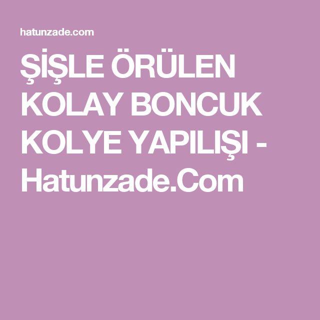 ŞİŞLE ÖRÜLEN KOLAY BONCUK KOLYE YAPILIŞI - Hatunzade.Com