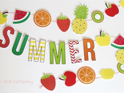 Summer Fruit Garland