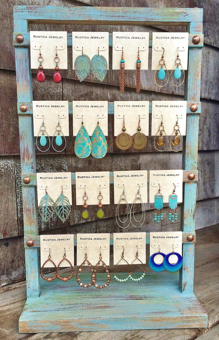 Shabby chic earring display for Jewelry displays