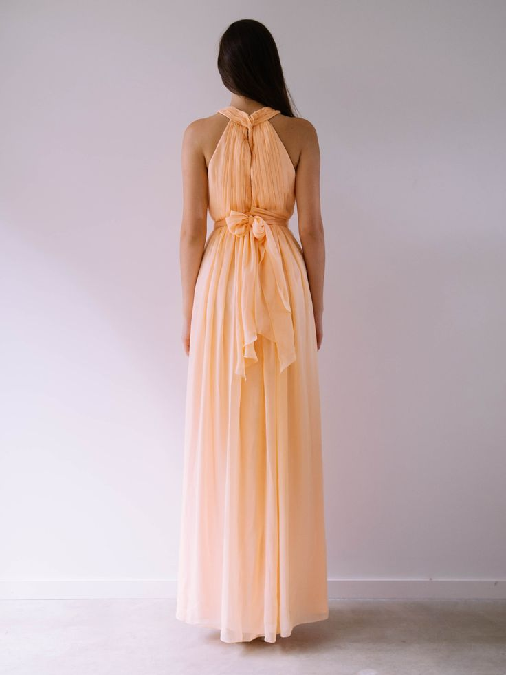 Cleo Maxi - Stunning high neck chiffon gown with a bit of pizazz! Up to 20 different colours to choose from. Chiffon. Dry Clean Only.