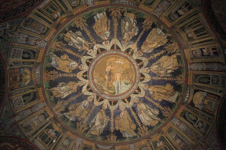 **Battistero Neoniano (Battistero degli Ortodossi) (mosaic ceiling) -  Ravenna