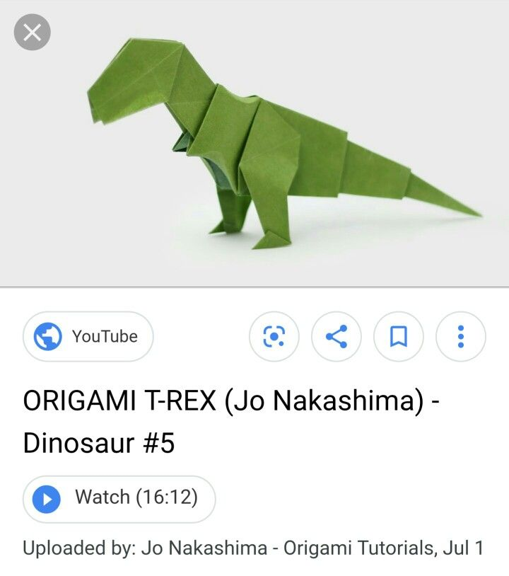 Origami Brachiosaurus (Jo Nakashima) - Dinosaur #4 - YouTube   814x720