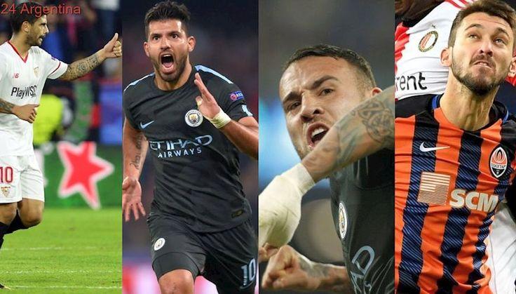Goles y récords argentinos en una nueva jornada de la Champions League