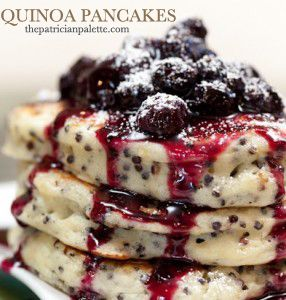 Black Quinoa Pancakes by thepatricianpalette.com; Photo by Mark Woolcott Photography