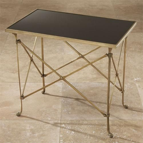 Shop For Global Views Rectangular Directoire Table Brass And Black Granite,  And Other Living Room End Tables At Finesse Furniture U0026 Interiors In  Edmonton, ...