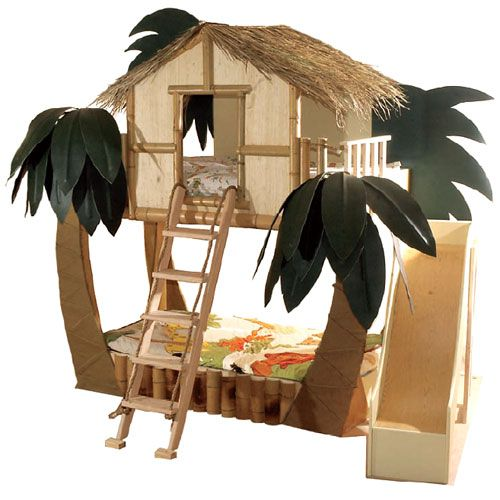 It, like a tropical vaction everyday, such a cool kids room!!!