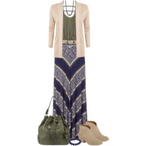 Maxi & cardie for fall