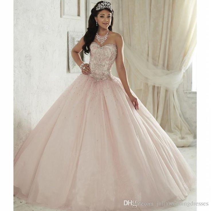 New Elegant Light Pink Ball Gown Quinceanera Dresses 2017 Beaded Crystals Appliques Sweet 16 Dresses For 15 Years Debutante Gown QC264 Quinceanera Dresses Quinceanera Dresses 2017 Quinceanera Gowns Online with $188.58/Piece on Juliaweddingdresses's Store | DHgate.com