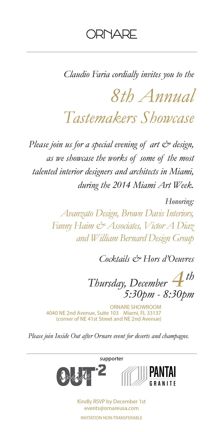 Youre Invited The 8th Annual Tastemakers Showcase