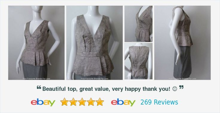 Veronika Maine Top Silver Embossed Pleated Peplum Made in #Australia #follow #online