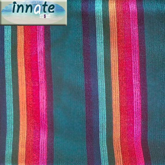 Teal Cambaya Fabric by InnateArtisanShop on Etsy