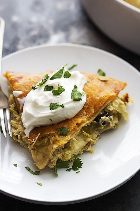 ... Verde Tortilla Pie   Recipe   Chicken verde, Chicken and Tortilla pie
