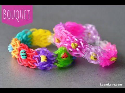 TUTORIAL... How to Make the Rainbow Loom Bouquet Bracelet