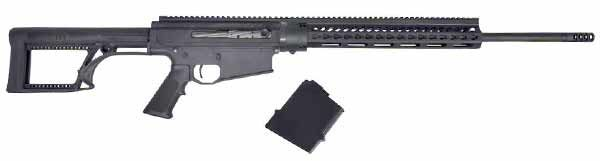 Noreen BN36-Noreen Firearms announced the addition of 7mm Rem Mag to the company's line of BN36 rifles. These rifles are DI guns in an AR-type configuration, but chambered for non-standard (for ARs) calibers including .30-06, .270 Win, 25-06 Rem and 300 Win Mag. Total weight with a 22″ barrel is about 9 pounds. The suggested retail price will be $2,595.99. Read the original article here: http://www.gunsholstersandgear.com/shot-show-2016/ .