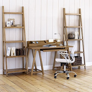 137.99 great for starter apartment or house... WOW...Natural Charles Office Collection | World Market