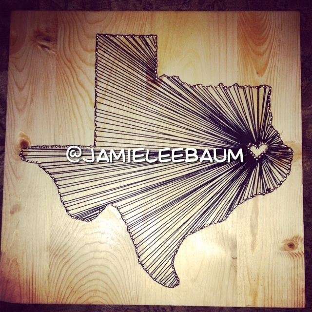 23 best nail string art images on pinterest nail string art art texas string art nails in the shape of texas with a heart representing where the prinsesfo Image collections