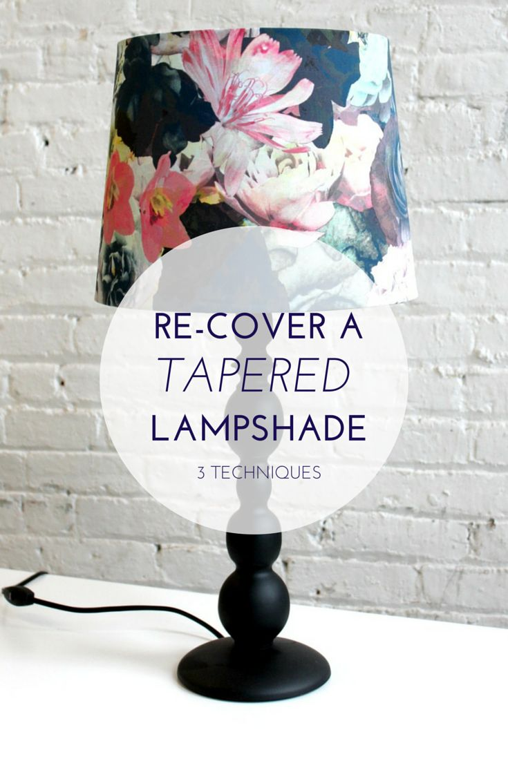 3 Ways to Make a Cone-Shaped Lampshade. See more DIY lamp tips and tutorials at http://ilikethatlamp.com
