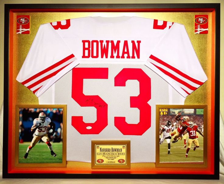 Navorro Bowman Autographed / Signed & Gallery Framed 49ers Jersey - JSA Authenticated