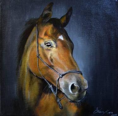 "Saatchi Art Artist Ozlem Kara; Painting, ""Mysterious glance"" #art"