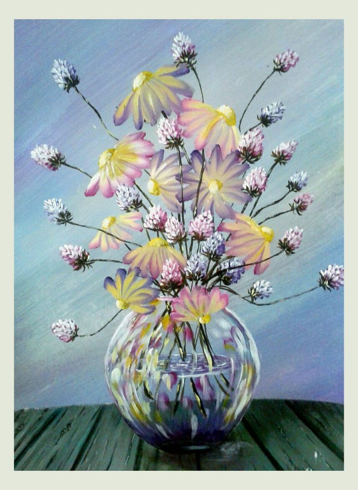 """Lilac"" Acrylics, 40x30 cm, white frame included For SALE!!!"