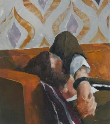 "Saatchi Art Artist Flavia Lugigan; Painting, ""Sofa III"" #art"