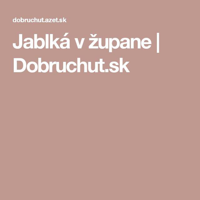 Jablká v župane | Dobruchut.sk