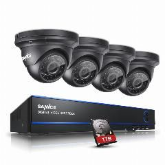 [ $73 OFF ] Sannce 2Mp 1080P Hd 8 Channel Dvr Ahd Surveillance Kit 4Pcs 3000Tvl Outdoor Home Security Camera Cctv System With 1Tb Hdd