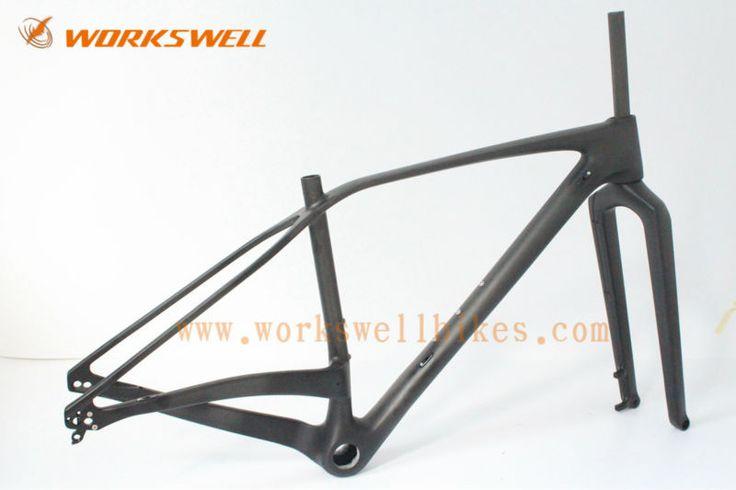 """Aliexpress.com: Acheter Cadre en carbone VTT 27er, Taille 17 """", 3 k Finition Brillante, Disque Post Mount 160mm, pour le vélo de…"""