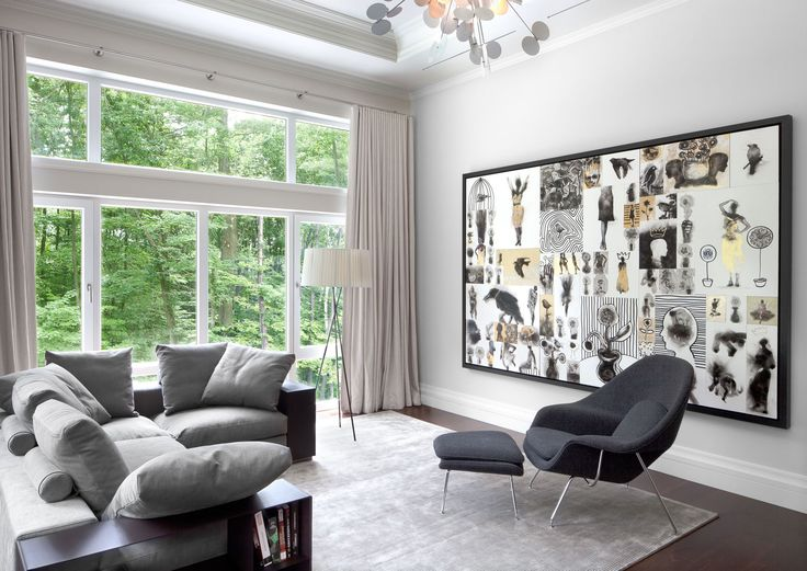 Instead Of A Collection Of Smaller #photos Or #art, Bernadine Rothstein  Chose One. Interior Design ...