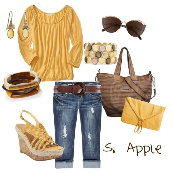 Now this is my kind of outfit...love the comfy feel of all of it.: Fashion, Summer Looks, Lazy Day Outfits, Cute Outfits, Spring Summer, Summer Outfits, Casual Outfits, Spring Outfits, Mustard Yellow