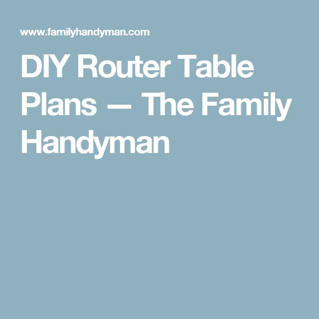 25 parasta ideaa pinterestiss router table plans jyrsinpyt diy router table plans the family handyman greentooth Gallery