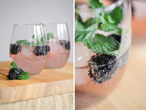 Blackberry Mint Infused Sparkling Water