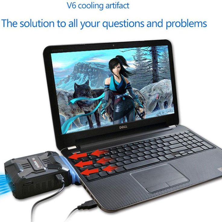 Adjustable V6 External Exhaust Type Notebook Laptop Cooling Pad Radiator Cooling Fan USB laptop cooler #men, #hats, #watches, #belts, #fashion, #style, #sport