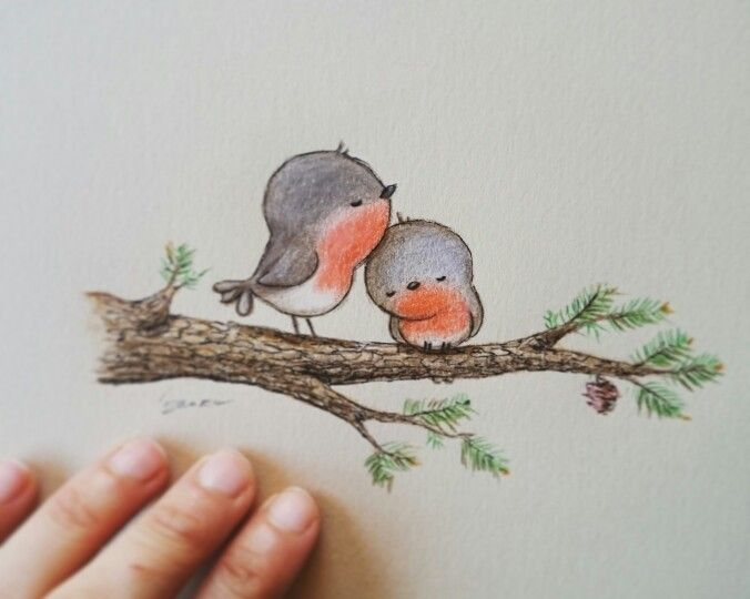 Bird love by Aida Zamora