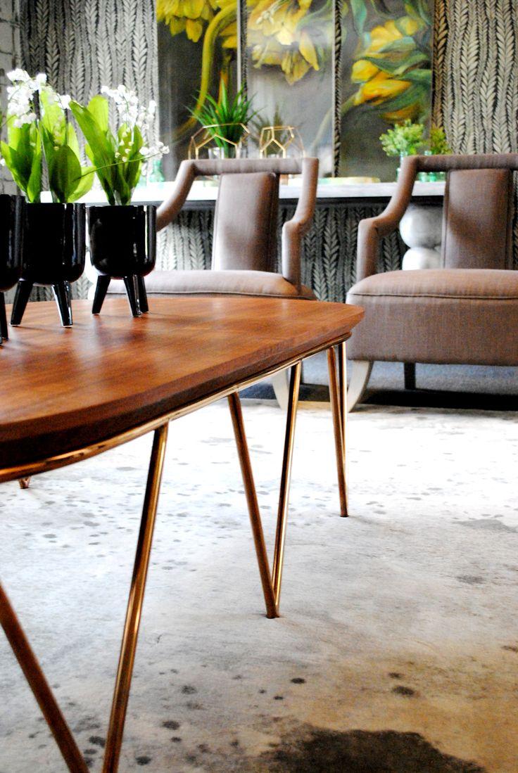 Black Walnut Oval Coffee Table R11500